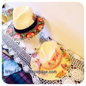 麦わら帽子のデコパージュ